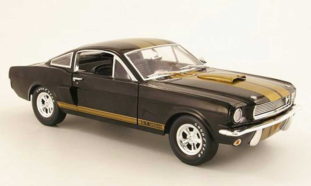 Shelby GT 350 1966 1/18 Shelby Collectibles H noire/or miniature
