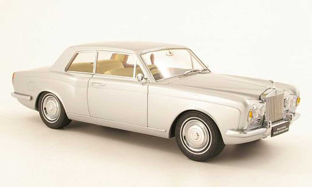 Rolls Royce Silver Shadow 1/18 Paragon Mulliner Park Ward Two-Door Coupe grise metallisee RHD 1968 miniature