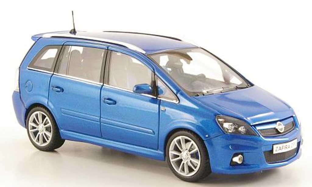 Opel Zafira 1/43 Minichamps B OPC bleue miniature