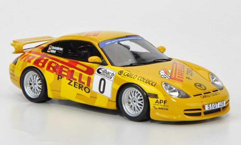 Porsche 996 GT3 1/43 Spark Cup No.0 W.Rohrl / C.Geistdorfer ADAC Rally Deutschland modellino in miniatura