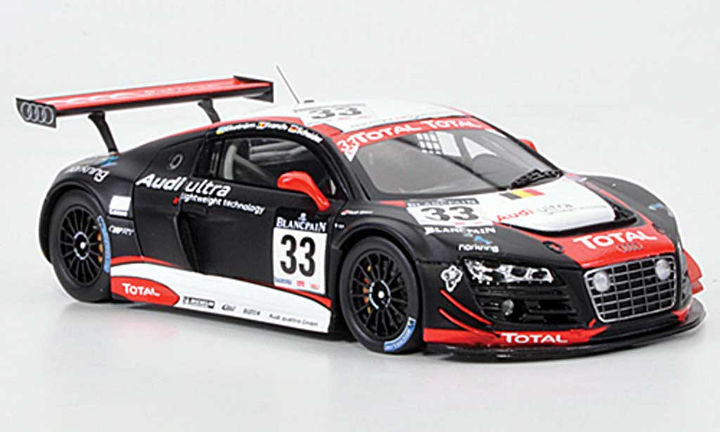 Audi R8 LMS 1/43 Spark No.33 Total/ultra 24h Spa 2011 diecast model cars