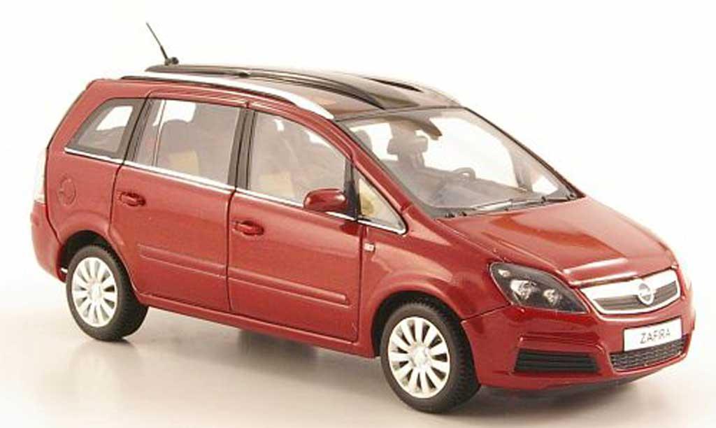 Opel Zafira 1/43 Minichamps B rouge 2005
