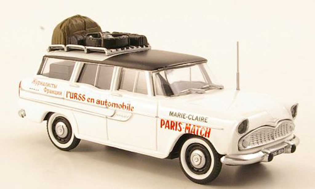 Simca Vedette 1/43 Eligor Marly Raid US - Paris Match miniature