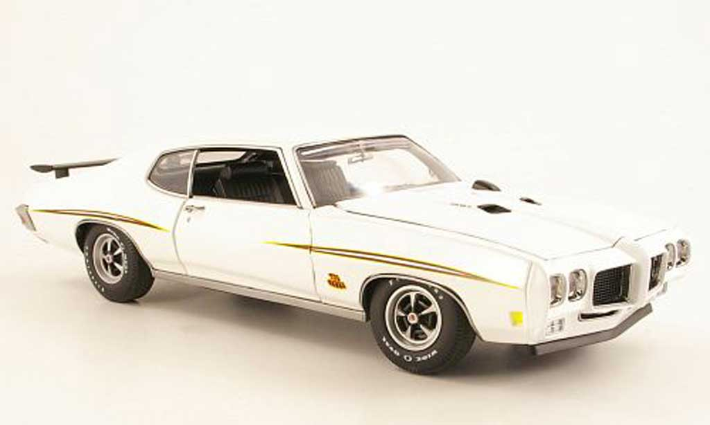 Pontiac GTO 1/18 GMP GTO The Judge white Presentationsfahrzeug 1970 diecast
