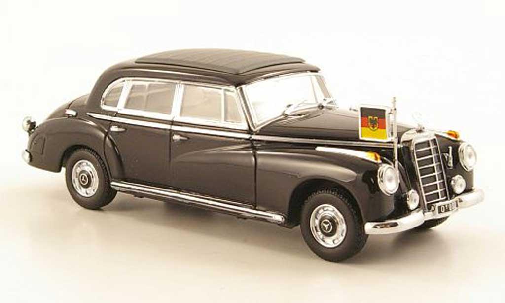 Mercedes 300 B 1/43 Minichamps (W186 III) black Konrad Adenauer  diecast
