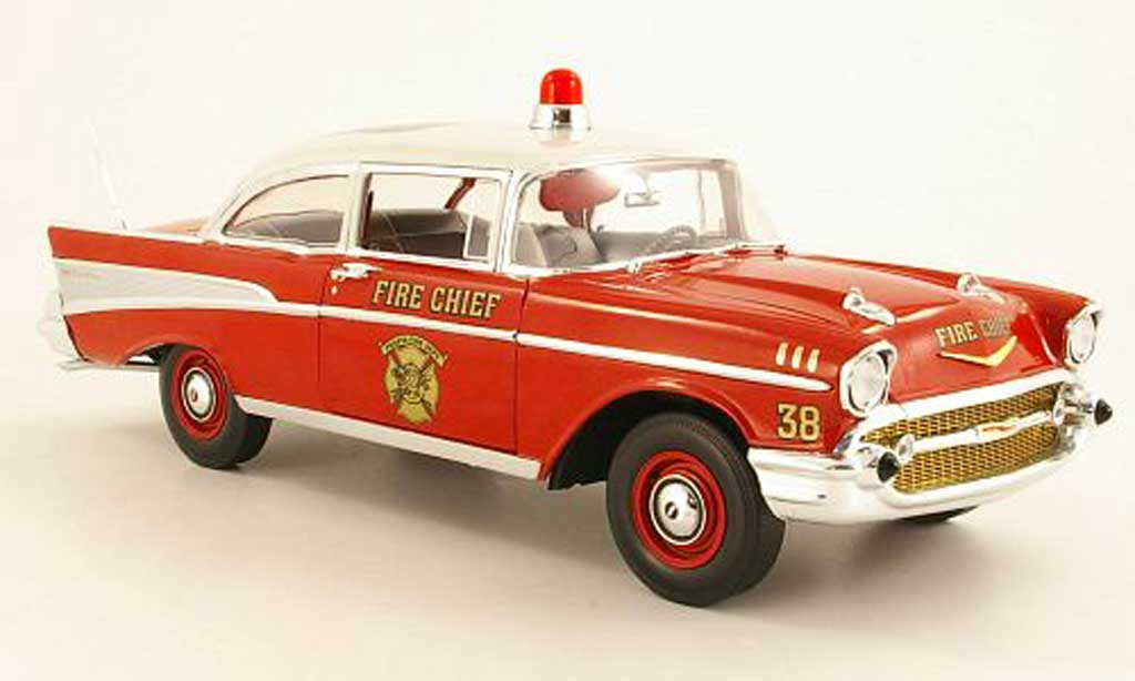 Chevrolet Bel Air 1957 1/18 Highway 61 Bel Air Fire Chief Peosta Fire Dept. miniature