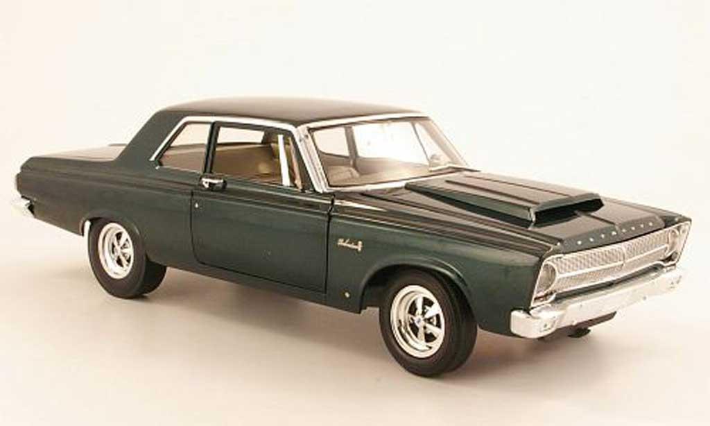 Plymouth Belvedere 1/18 Highway 61 A990 grun 1965 miniature