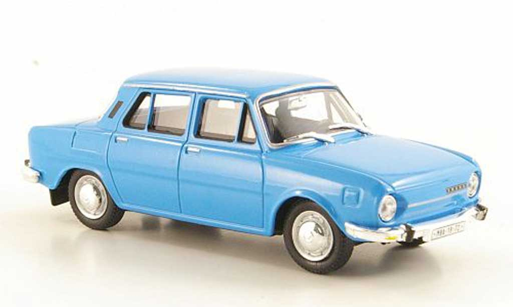 Skoda 110 1/43 Abrex bleu 1969 miniature
