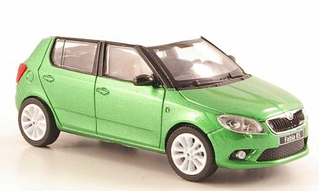 Skoda Fabia 1/43 Abrex  verte mit blancheem Dach und Felgen 2010 miniature