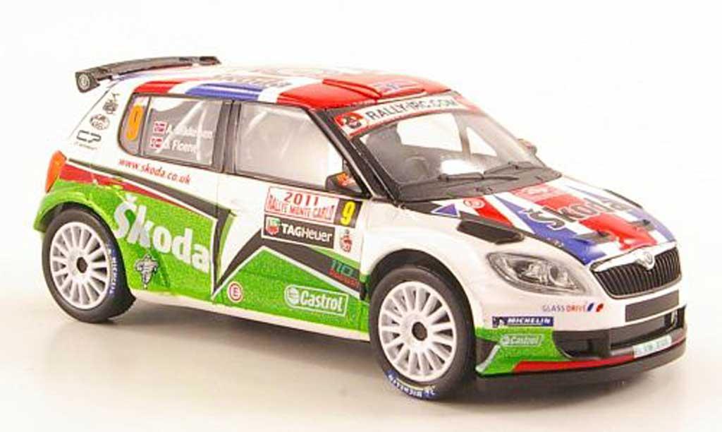 Skoda Fabia S2000 1/43 Abrex No.9 Mikkelsen/Floene Rally Monte Carlo 2011 diecast