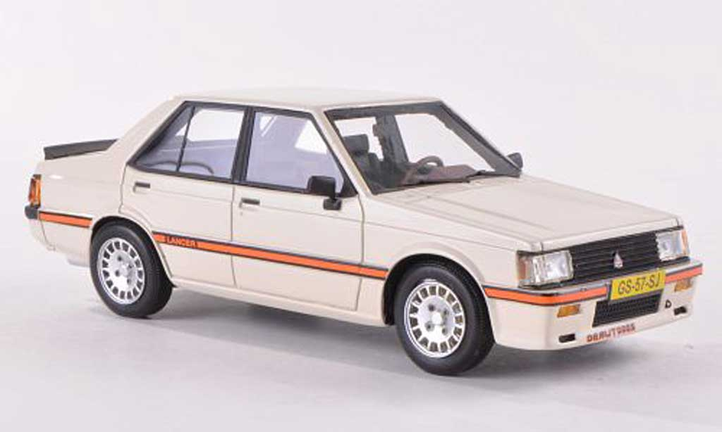 Mitsubishi Lancer 2000 Turbo 1/43 Neo EX PWO cremeblanche 1980 miniature