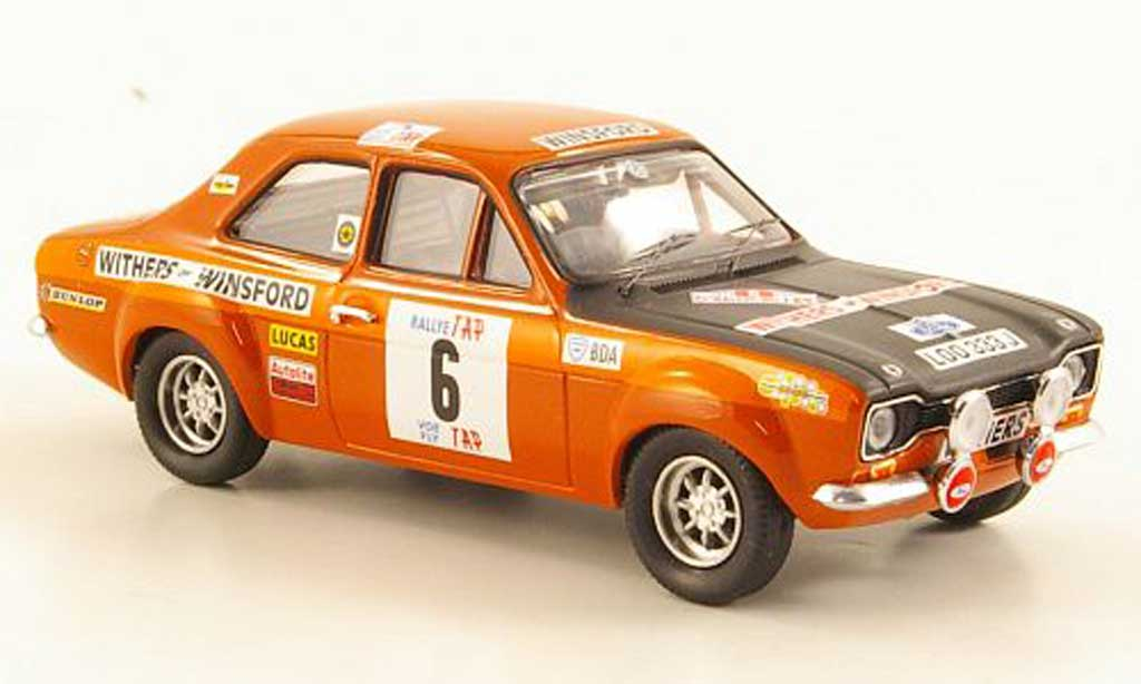 Ford Escort RS 1600 1/43 Trofeu TC No.6 Withers of WinsRally Portugal 1971 miniature