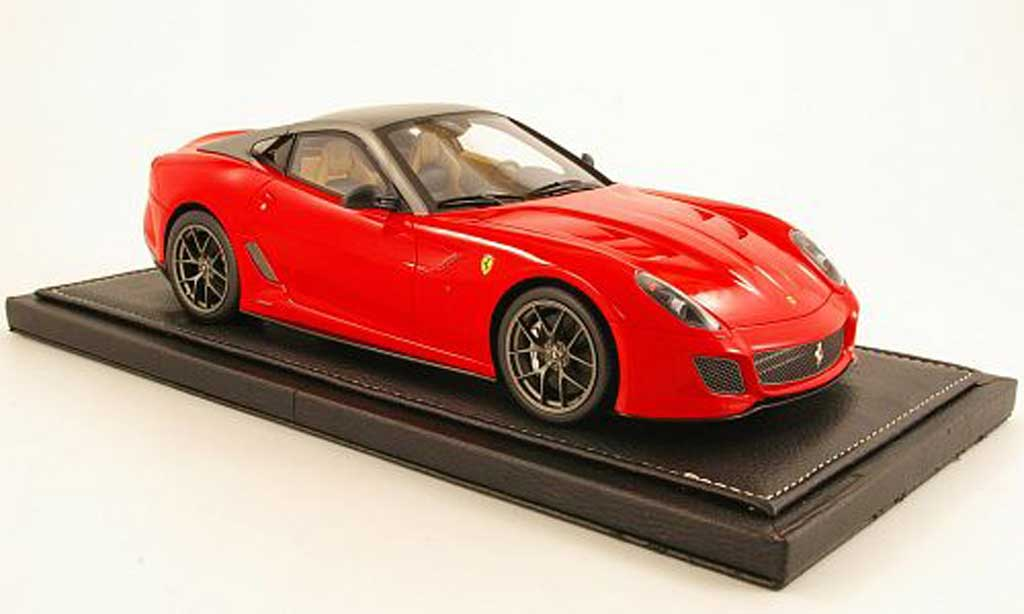 Ferrari 599 GTO 1/18 BBR Models rouge/grise miniature