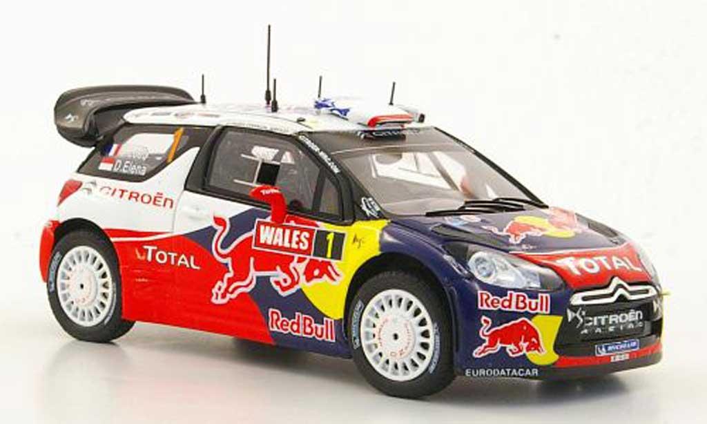 DS Automobiles DS3 WRC 2011 1/43 Spark No.1 S.Loeb / D.Elena Weltmeister Rally Grossbritannien - Wales miniature