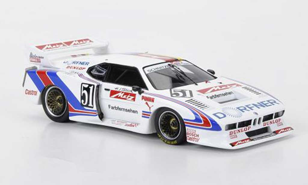 Bmw M1 1981 1/43 Spark Gr.5 No.51 Metz Schnitzer -Team H.-J.Stuck Norisring diecast model cars