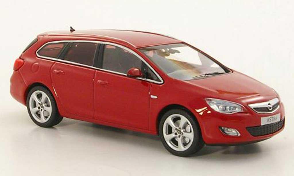 Opel Astra 1/43 Minichamps Sportstourer rosso 2010 modellino in miniatura