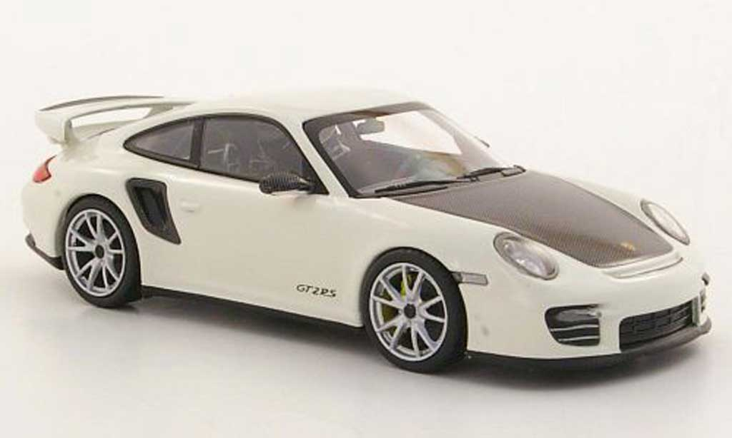 Porsche 997 GT2 RS 1/43 Minichamps 2010 (II) white/Carbonoptik diecast model cars