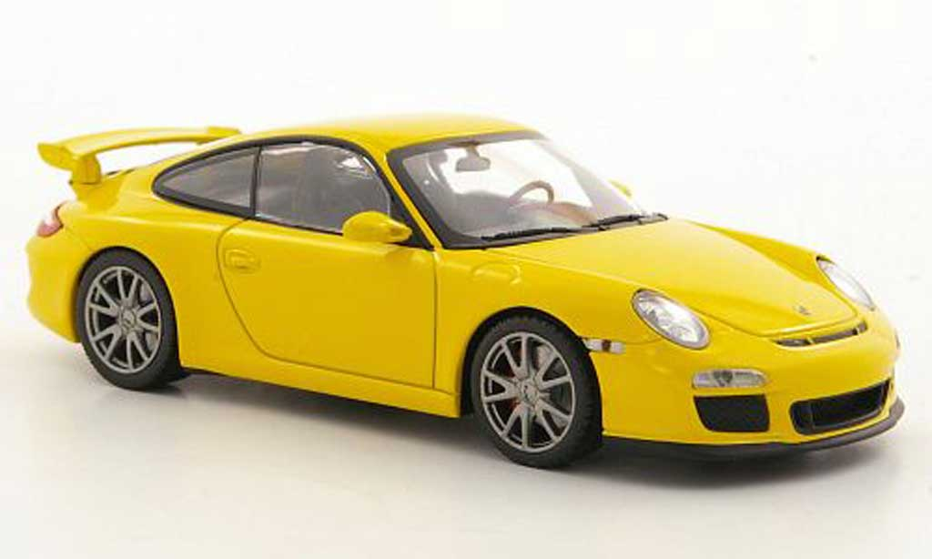 Porsche 997 GT3 1/43 Minichamps (II) yellow 2009 diecast model cars