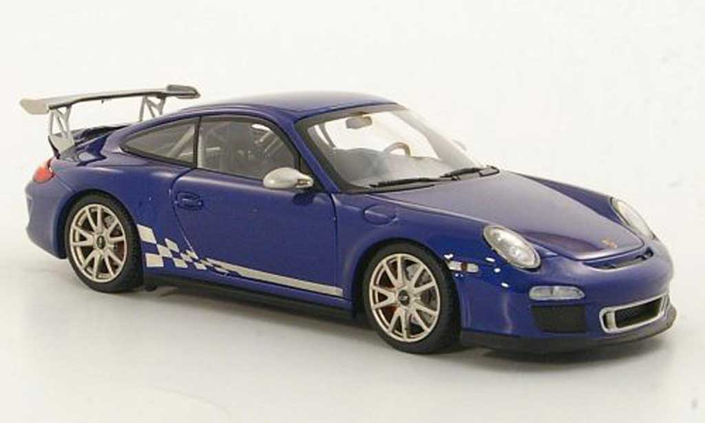 Porsche 997 GT3 RS 1/43 Minichamps 2010 (II) bleu miniature