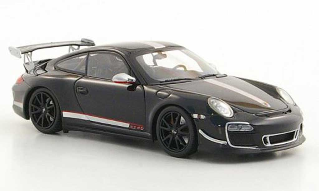 Porsche 997 GT3 RS 1/43 Minichamps 2011 4.0 (II) black diecast model cars