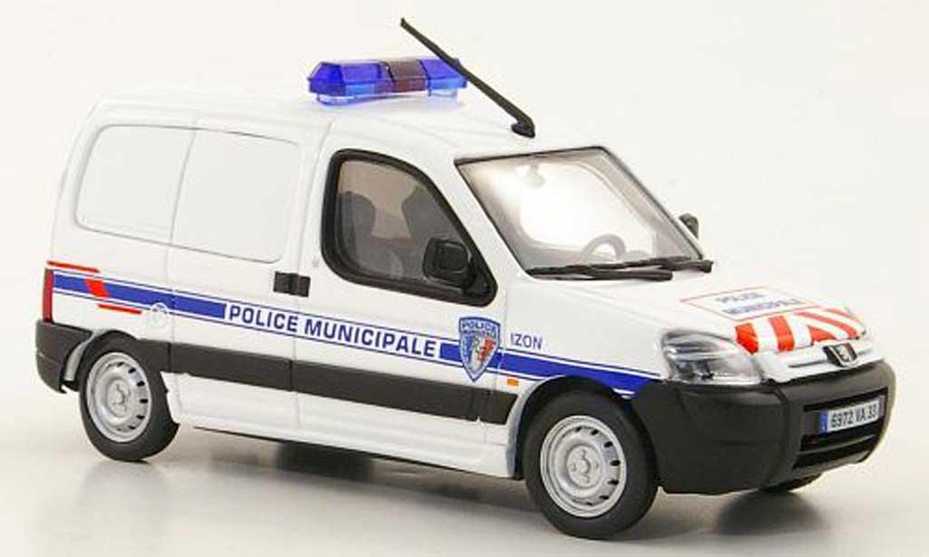 Peugeot Partner 1/43 Eligor Kasten Police Municipale d'Izon (F) Polizei miniature
