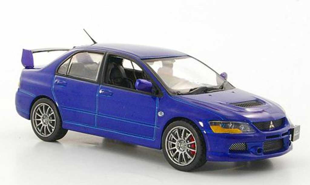 Mitsubishi Lancer Evolution IX 1/43 Vitesse bleu RHD 2006 miniature