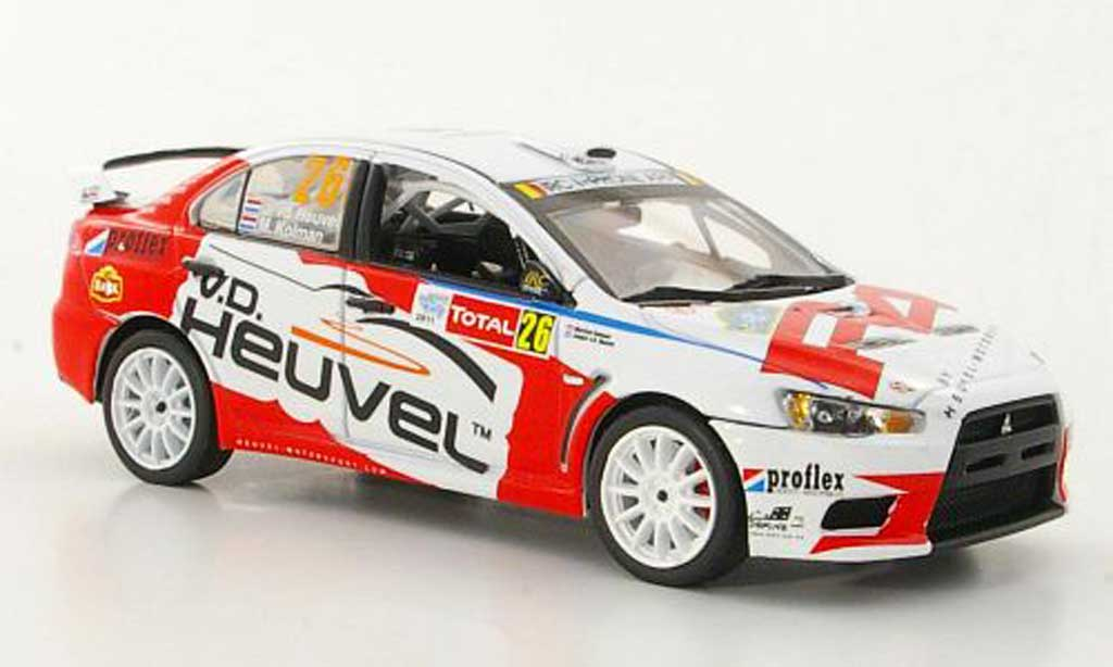 Mitsubishi Lancer Evolution IX 1/43 Vitesse R4 No.26 J.v.d.Heuvel / M.Kolman Rally Ypern 2011 miniature