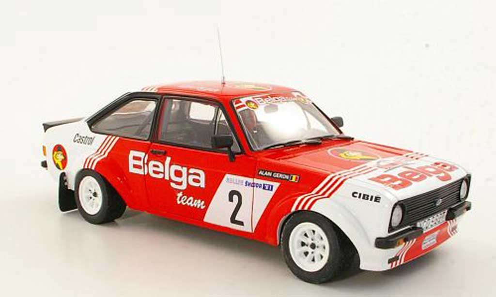 Ford Escort MK2 1/18 Sun Star  1800 No.2Belga R.Droogmans / A.GeronSkoda Rally 1981 miniature