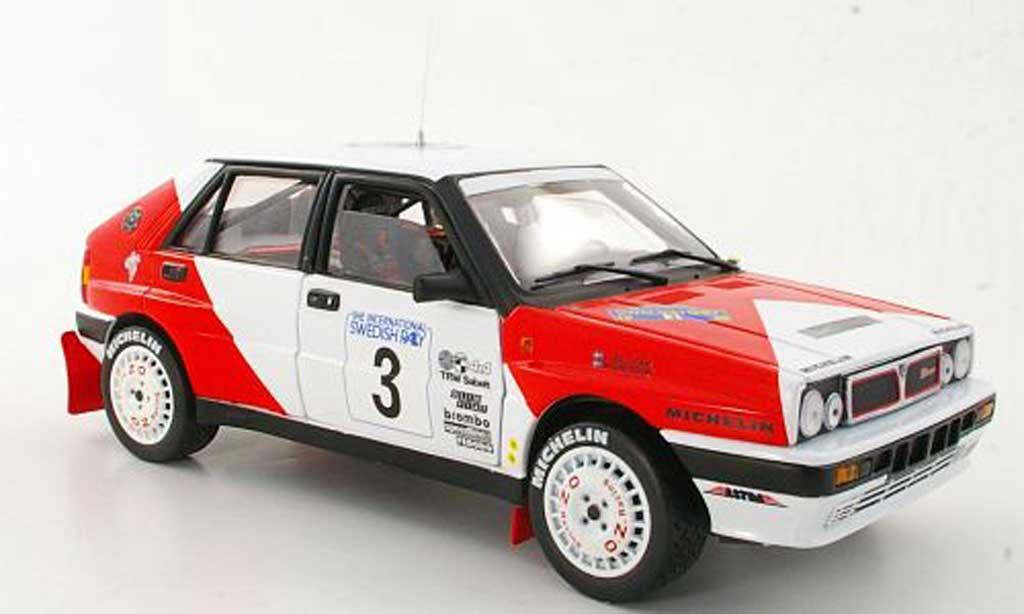 Lancia Delta HF Integrale 1/18 Sun Star No.3 Marlboro M.Ericsson / C.Billstam Rally Schweden 1989 miniatura