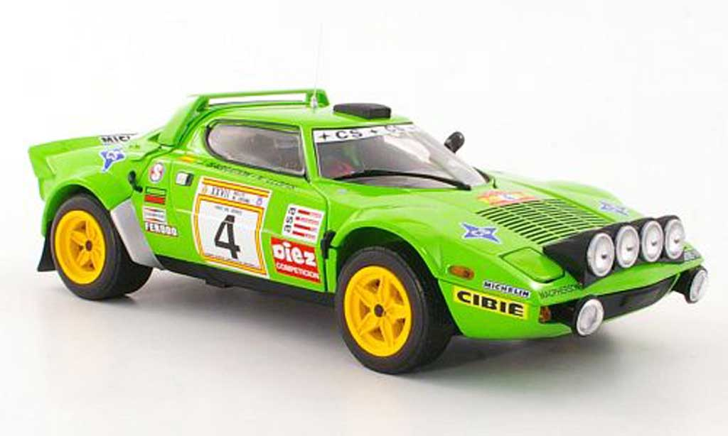 Lancia Stratos HF 1/18 Sun Star Rally No.4 J.de Bagration / N.Llopis Rally Spanien 1979 miniature