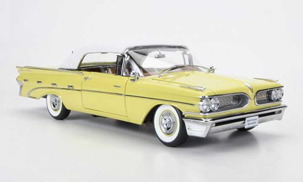 Pontiac Bonneville 1/18 Sun Star Convertible blanche/jaune geschlossen 1959 miniature
