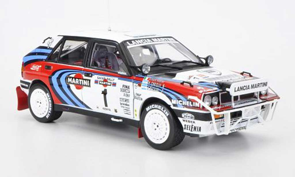 Lancia Delta HF Integrale 1/18 Sun Star 16V No.1 Martini J.Recalde/M.Christie Safari Rally 1991 diecast model cars