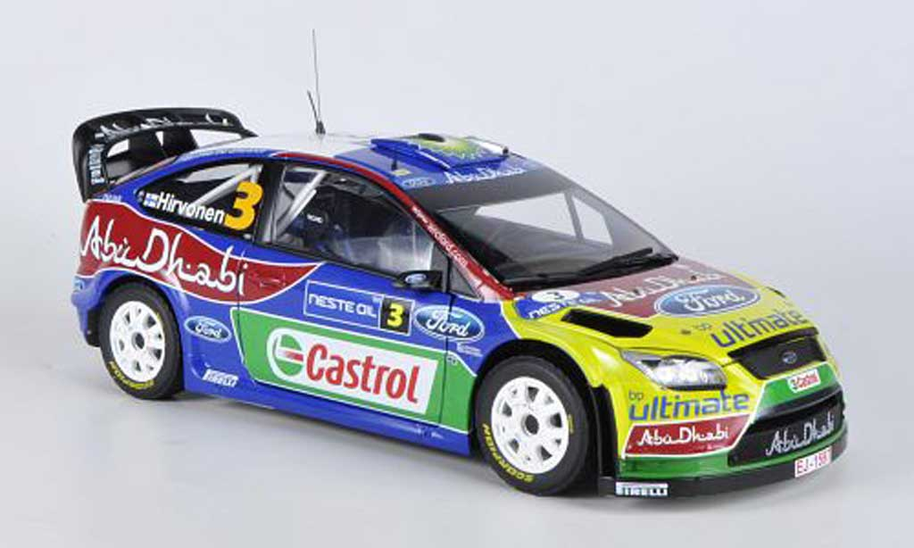 Ford Focus RS WRC 1/18 Sun Star 09 No.3 Abu Dhabi/BP Rally Finnland 2009 M.Hirvonen/J.Lehtinen diecast model cars