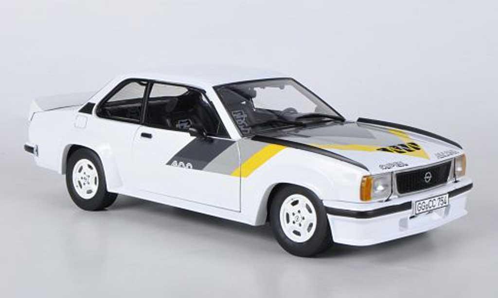 Opel Ascona 400 1/18 Sun Star blanche mit jaune/grise/griseen Streifen miniature