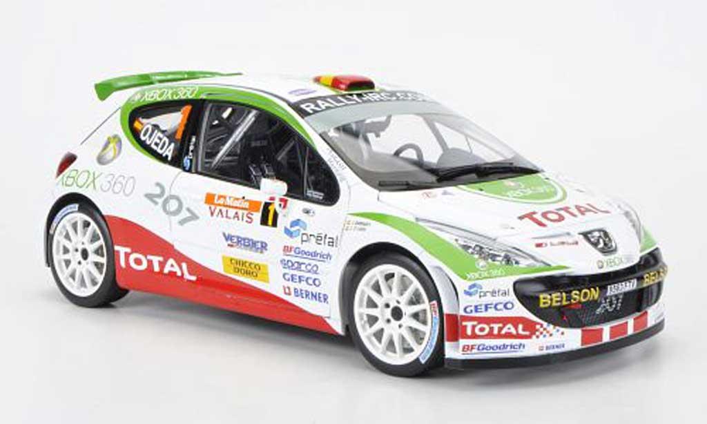 Peugeot 207 S2000 1/18 Sun Star No.1Total/XBOX 360 Rally Internatinal du Valais IRC 2007 E.G.Ojeda/J.Barrabes