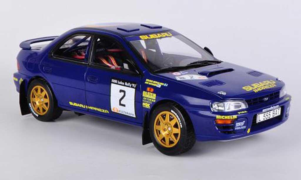 Subaru Impreza 1/18 Sun Star 555 No.2 2nd 1000 Lakes Rally 1993 A.Vantanen/B.Berglund miniature