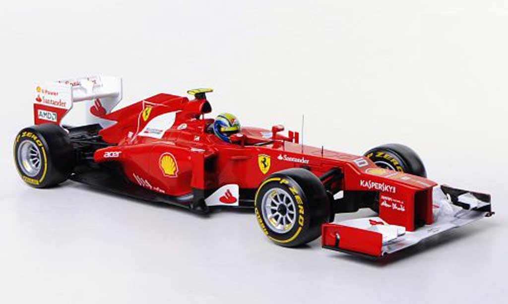 Ferrari F1 2012 1/18 Hot Wheels F2012 No.6 F.Massa F1-Saison miniature