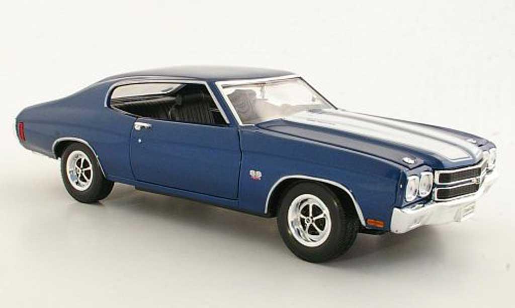 Chevrolet Chevelle 1970 1/18 Welly bleu/white SS454 diecast