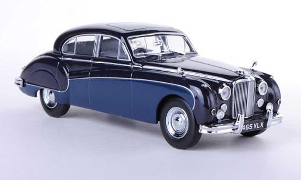 Jaguar MK 8 1/43 Oxford MkVIII noire/bleu RHD miniature