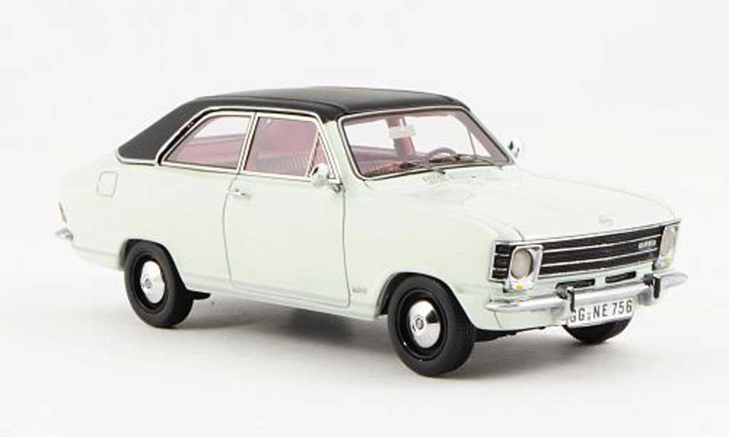 Opel Olympia 1/43 Neo A LS white/black 2-Turer 1970 diecast