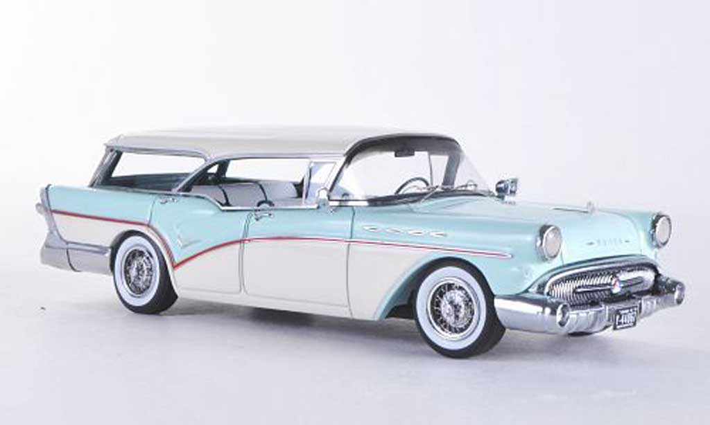 Buick Century 1/43 Neo Caballero Estate blanche/bleu  1957 miniature