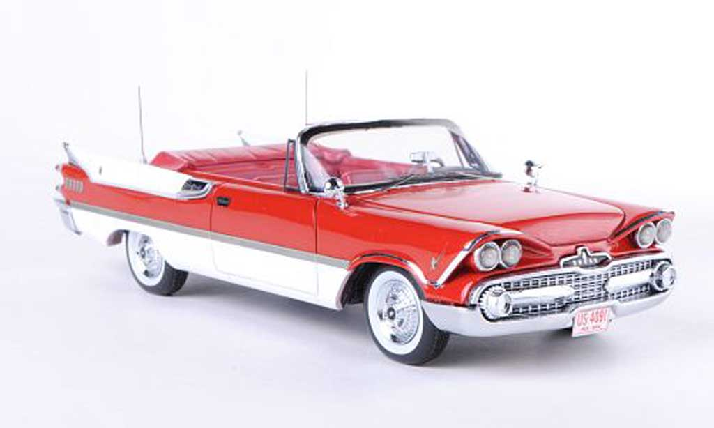 Dodge Custom Royal Lancer 1/43 Neo Convertible red/white 1959 diecast model cars