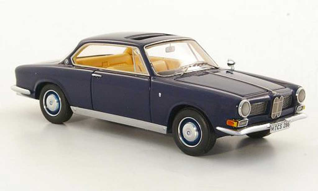 Bmw 3200 1/43 Neo CS Bertone bleu 1961 miniature