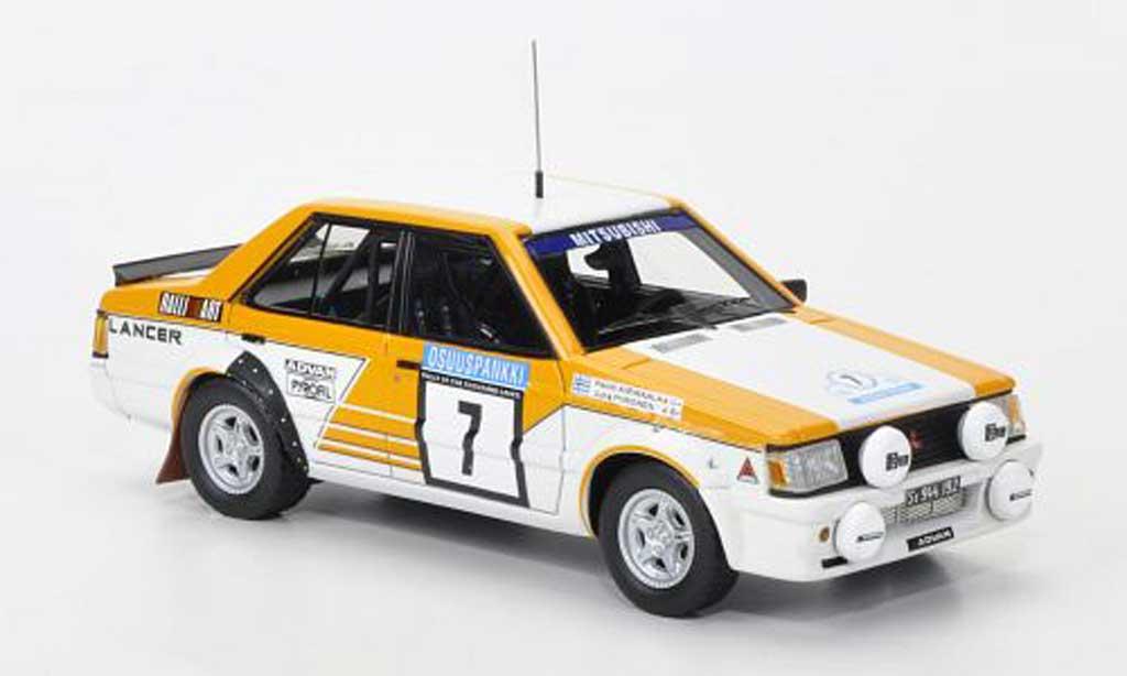 Mitsubishi Lancer 2000 Turbo 1/43 Neo No.7 Team Ralliart 1000 Lakes Rally 1982 miniature