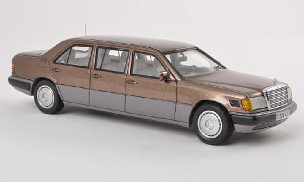 Mercedes 250 1/43 Neo grise Lang (V124) brun/gris  miniature