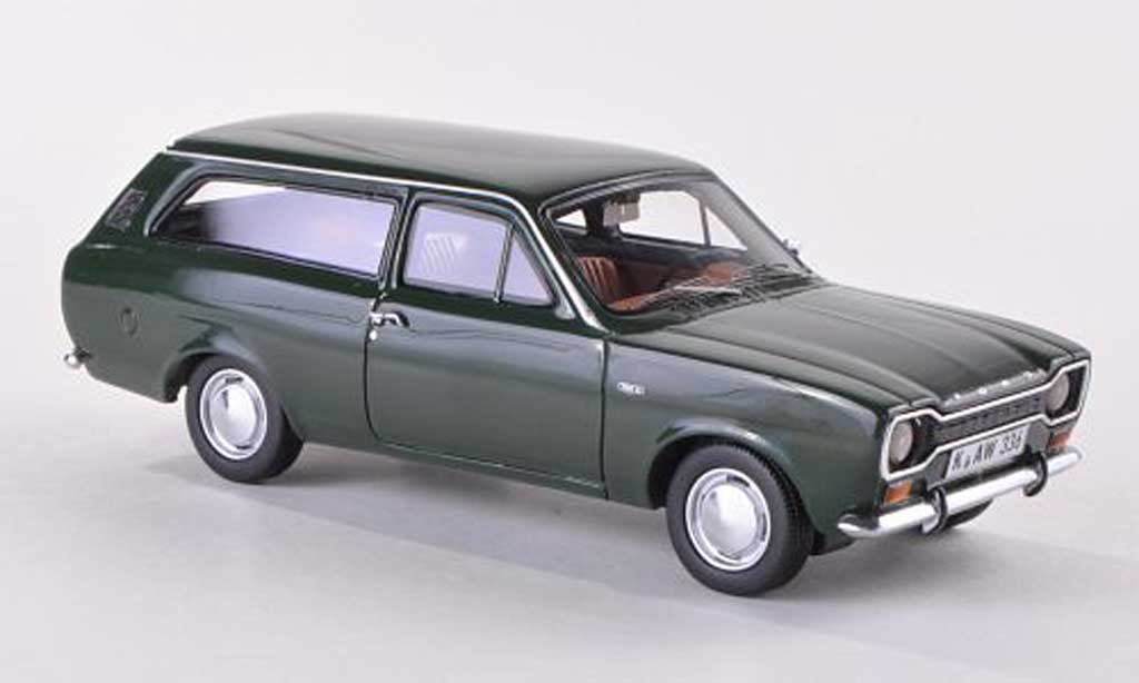 Ford Escort MK1 1/43 Neo Turnier verte LHD  1968 miniature