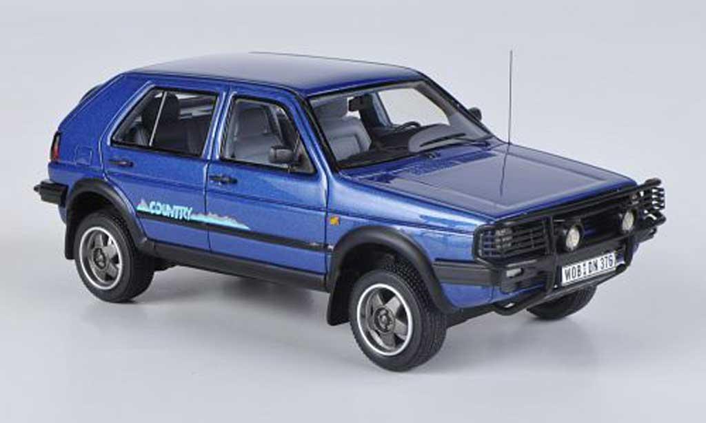 Volkswagen Golf 2 Country 1/43 Neo bleu 1990 modellino in miniatura