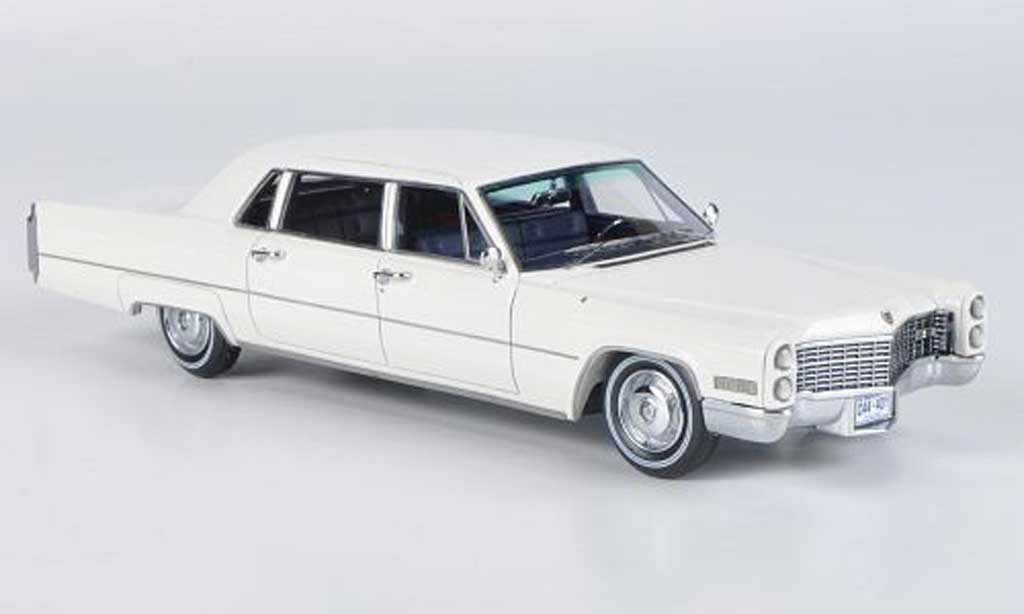 Cadillac Fleetwood 1966 1/43 Neo 75 blanche miniature