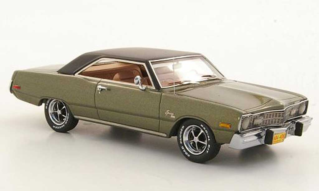 Dodge Dart 1973 1/43 Neo Swinger griseverte/noire 1973 miniature