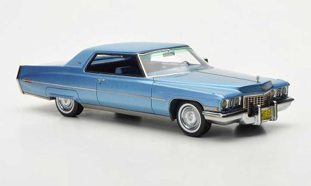Cadillac Deville 1972 1/43 Neo 1972 Coupe bleu/mattbleu miniature